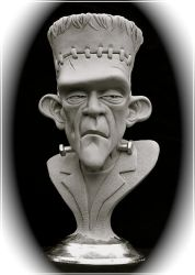 Frankenstein's Monster-bust by RandyHand