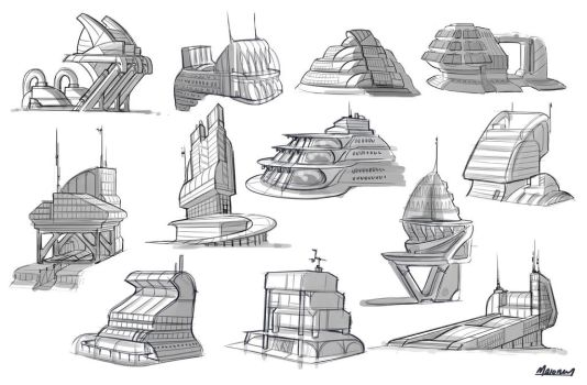 Alps research Facility Sketches by Llyannart