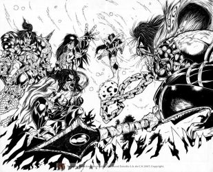 PSYCHO CIRCUS TEST INKS 2 by Galtharllin