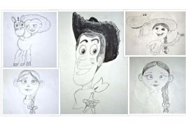 Toy Story Sketches by elephanza