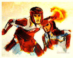 Protecting Korra by chanso