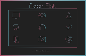 Neon Flat Icon Pack by Xtaehl
