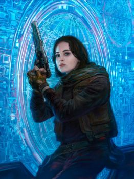 Rogue One - Jyn Erso - The Plans by DonatoArts