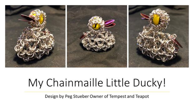 Chainmaille Ducky by graywolfsmaille