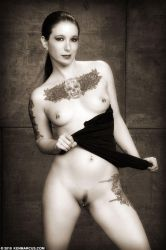Monochromatic Submissive 1 by Mistress-Zelda