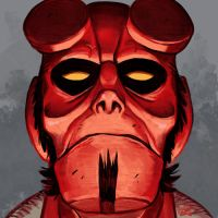 Daily Sketches Hellboy by fedde