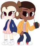 COM: Finn and Rey as Mike and Eleven by Riouku