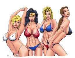 Lara and Friends Beach Color by ESO2001