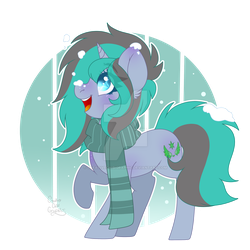 [REQUEST] Winter wonderland green gray pony by CreativeChibiGraphic