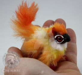 OOAK Fire Gryphon Hatchling Doll by M-J-Albert