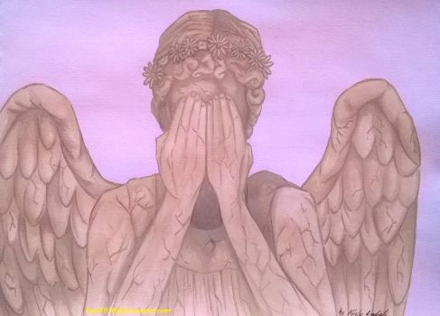 Weeping Floral Angel by kael1030