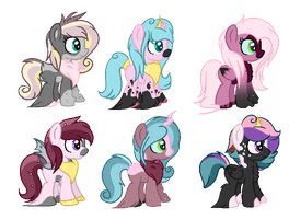 CMSF - Chrysalis x Fluffle Puff x Cadence [CLOSED] by Pikadopts