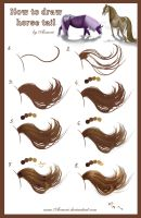 Tutorial - horse tail by AonikaArt