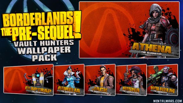 Borderlands the Pre-Sequel Wallpaper Pack by mentalmars