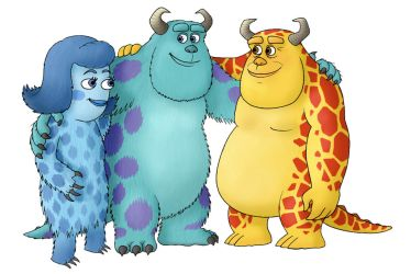 The Sullivans: Sulley's Mom and Dad by BenjaminSapiens