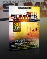 Summer Party Flyer -PSD- by retinathemes