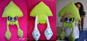 Splatoon green Squid Plush by DemodexPlush