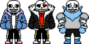 Updated Sans sprites... again by flambeworm370