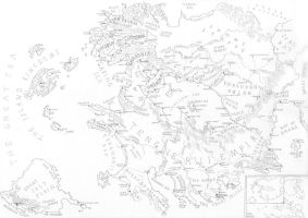Map of my fantasy world by PenUser