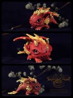 Baby Fire Dragon by RedPersik