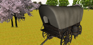 MMD Newcomer Covered Wagon + DL by Valforwing