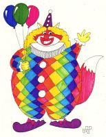Fat Foxgirl Clown by EmperorNortonII
