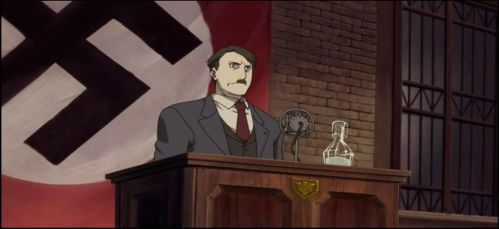 the Fuhrer Adolf Hitler at the podium by Wakko2010