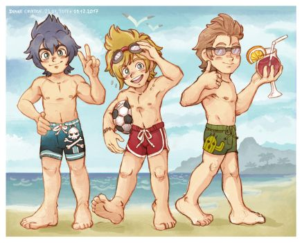 Bros on the beach by Yamatoking