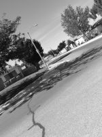 Street in Black and White by nessahlovee
