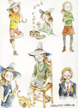 Young professor McGonagall by very-vera