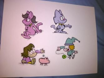 Fuzzy Princess stickers NOW AVAILABLE! by bakertoons