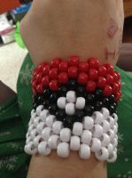 pokeball braclet by iluvgrey