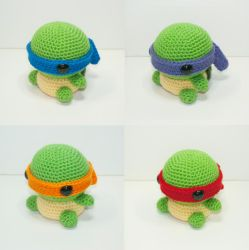 Teenage Mutant Ninja Turtles by Heartstringcrochet
