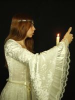 GP015 - Medieval Girl - Candle by guilty-pleasure