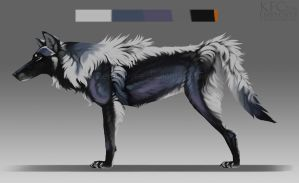 Magpie wolf adopt: CLOSED by Chickenbusiness