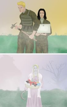 Encounter with Flower Girl by KanaGo