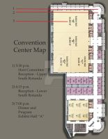 Convention Center Map 2 by SerafinaMoon