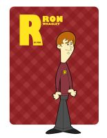 R is for Ron Weasley by jksketch