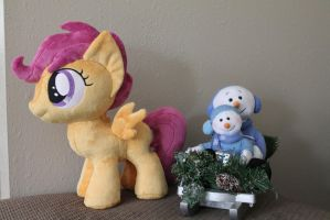 Scootaloo and her Sled by WhiteDove-Creations
