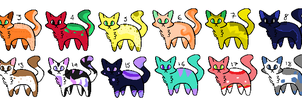 5 Point kitty Adopts! OPEN by DarkleyChaos