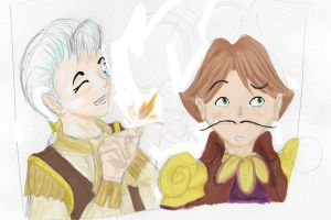Cogsworth and Lumiere by Dyslexic-Duckling