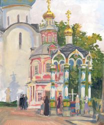 An afternoon in the Trinity Lavra of Saint Sergius by Liris-san