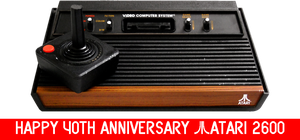 Atari 2600 40th Anniversary by mrentertainment