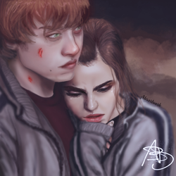Ron and Hermione by absartwork