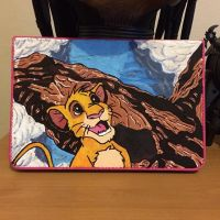 Custom ipad Simba and pride rock case by nicitadesigns