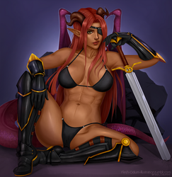 Zoan Blackheart - softshade commission by Flesh-Odium