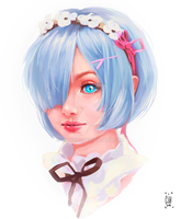Fanart Rem RE- ZERO by GiihArts