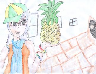 Ally and Stacey's Pineapple by zarahnox