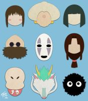 Spirited Away (Minimalistic) by studioofmm
