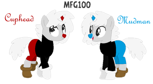 CupHead and MugMan by mixelfangirl100